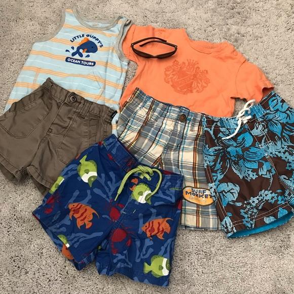 7b24de5b8e53d Janie and Jack Swim | Summer Baby Boy 7 Piece Suitclothing Bundle ...